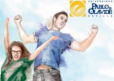 Ilustración publicitaria Universidad Pablo de Olavide